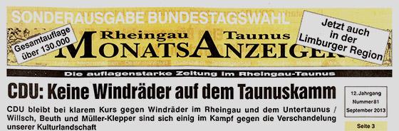 Rheingau-Taunus-Monatsanzeiger