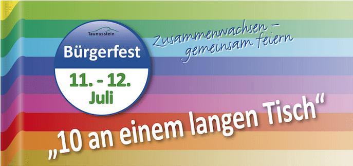 """2. Bürgerfest - """"10 an einem langen Tisch"""" - in Taunusstein"""