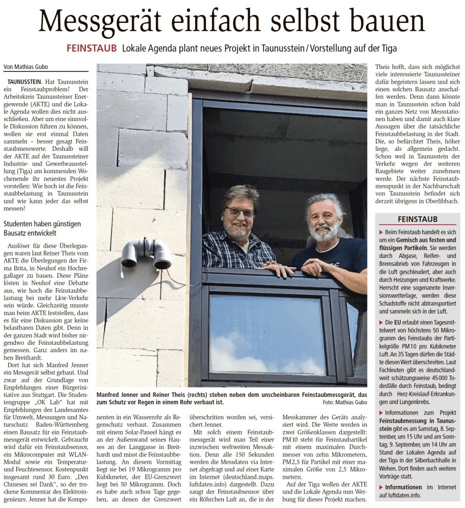 Wiesbadener Kurier Untertaunus Kurier Seite 9 vom 6.09.2018