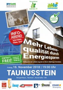 Mehr Lebensqualitaet durch Energiesparen 16November2018 Infoabend
