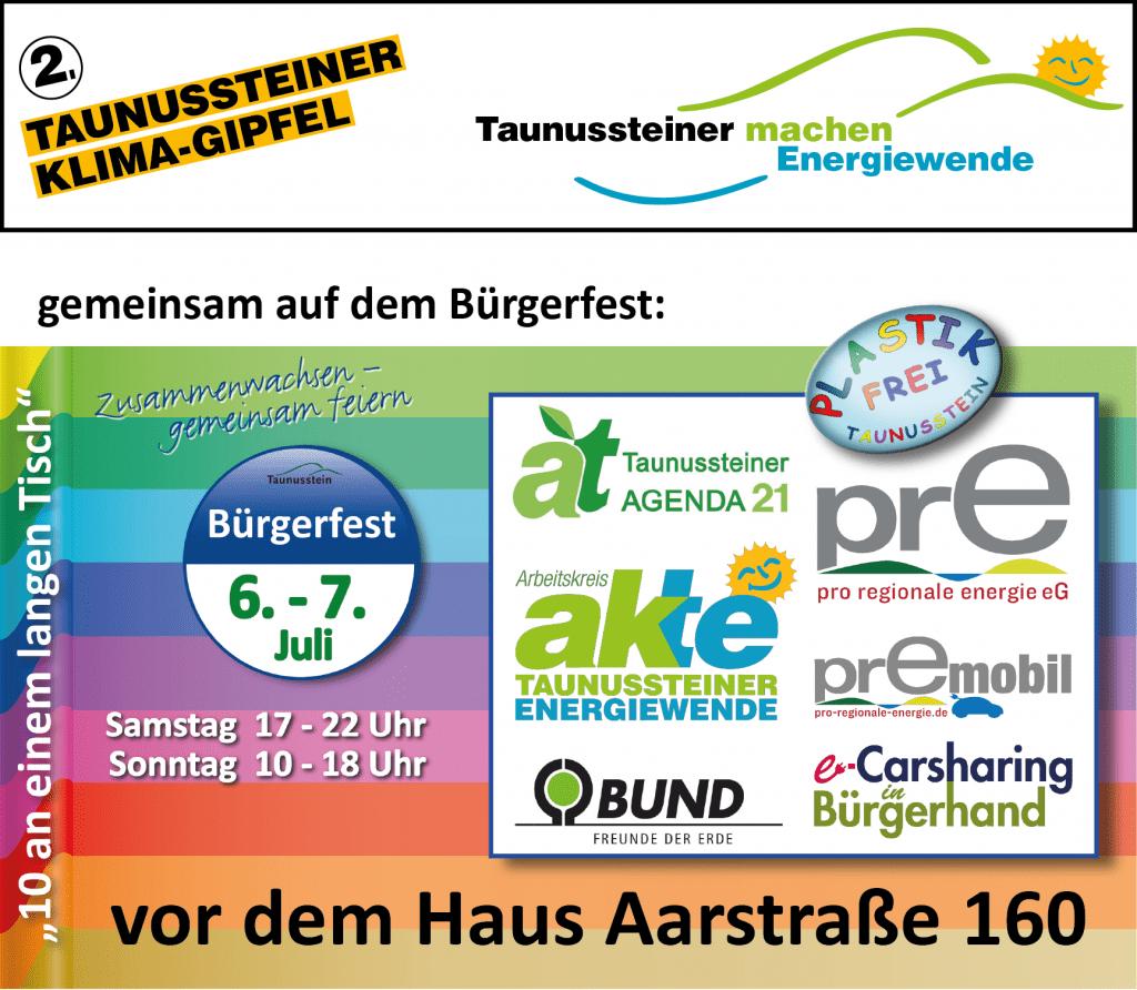 2. Klimagipfel - auf dem Taunussteiner Bürgerfest